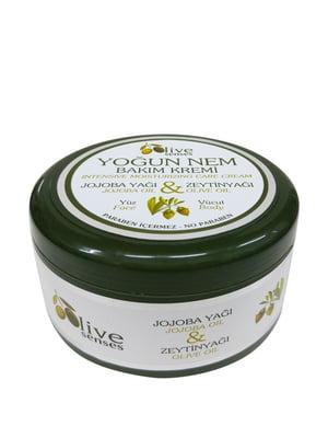 Крем для інтенсивного догляду за обличчям і тілом з оливковою і  жожоба оліями (300 мл) | 4986430