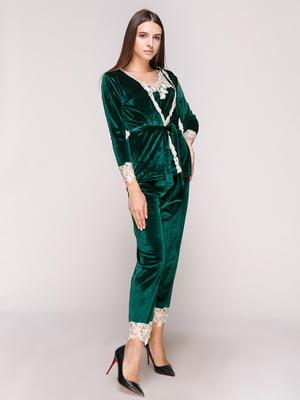 Пижама: халат, топ и брюки | 5029296