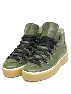 Ботинки зеленые | 5044119