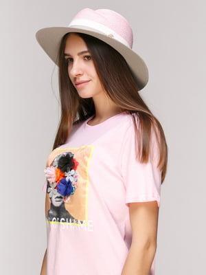 Капелюх рожево-сірий   5029383