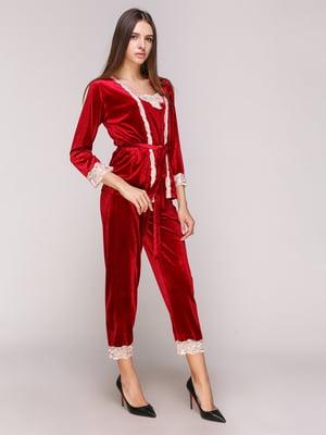 Пижама: халат, топ и брюки | 5029295