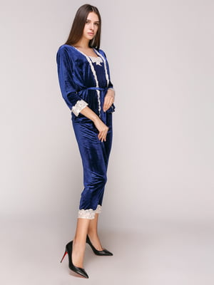 Пижама: халат, топ и брюки | 5029298
