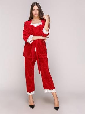 Пижама: майка, накидка и брюки | 5029292