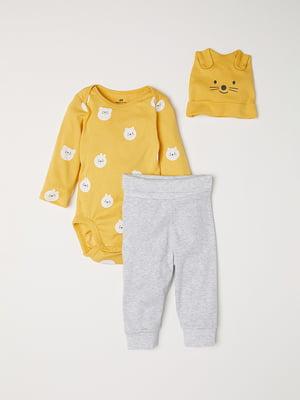 Комплект: боди, брюки и шапочка | 5045902
