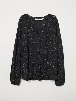 Блуза чорна в горошок | 5046289