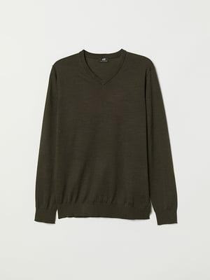 Пуловер зеленый | 5046777