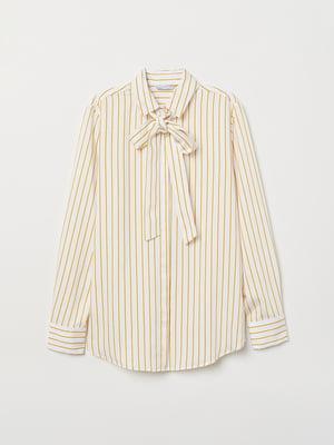 Рубашка белая в полоску | 5046962