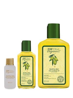 Зволожувальна олія з оливковою олією і шовком Olive Organics (15 мл) | 4958458
