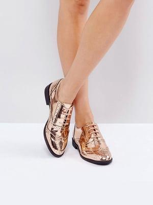 Туфли золотистые | 5048345