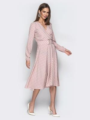 Платье цвета пудры в горошек | 5048436