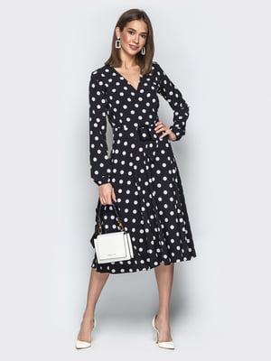 Платье черное в горошек | 5048437