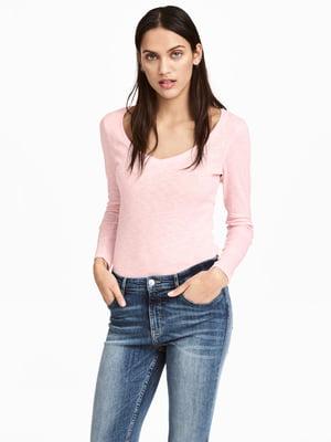 Лонгслів рожевий | 5045107