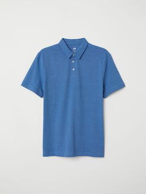 Футболка-поло синя | 5045668