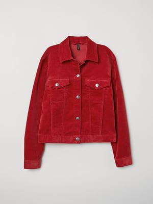Куртка червона вельветова | 5046639