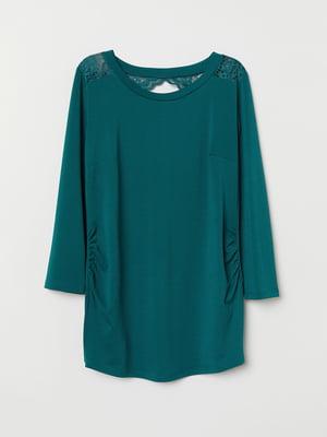 Блуза бірюзова | 5046905