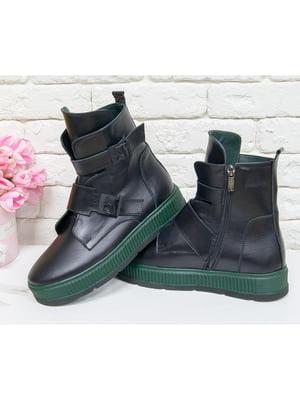 Ботинки черно-зеленые | 5043945