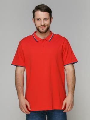 Футболка-поло червона | 4127413