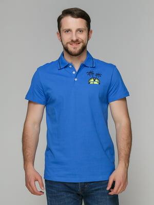 Футболка-поло блакитна | 3340322