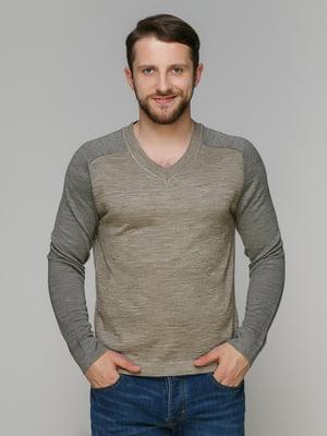 Пуловер світло-коричневий | 3240929