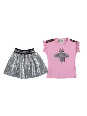 Комплект: футболка и юбка | 5054625
