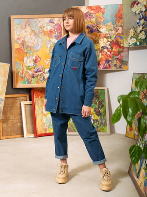 Куртка джинсова синя | 5056714