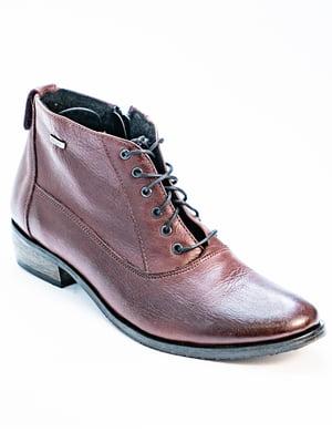 Ботинки бордовые | 5056947