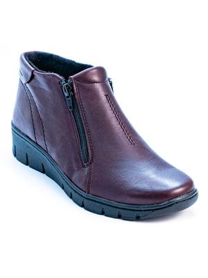 Туфлі бордові | 5056955