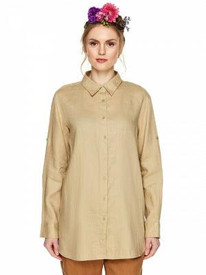 Рубашка бежевая | 4985708
