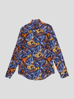 Рубашка в цветочный принт | 4507860