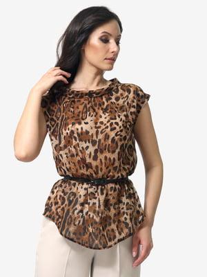 Блуза анималистичной расцветки | 5057997