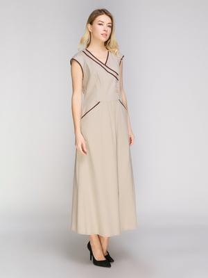 Платье бежевое | 5038982