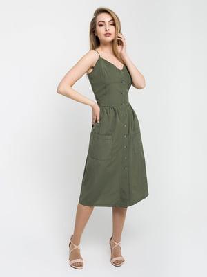 Сукня кольору хакі | 5059880