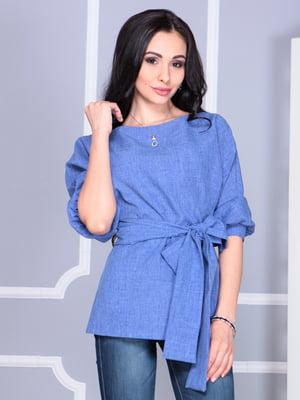Блуза синяя | 5060606