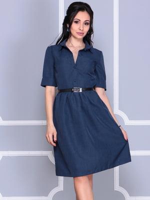 Платье темно-синее | 5060635
