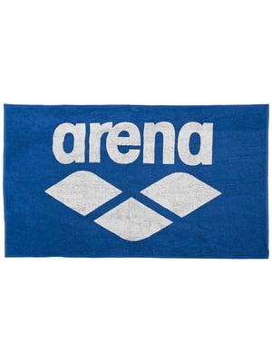 Рушник синій з принтом | 4974789