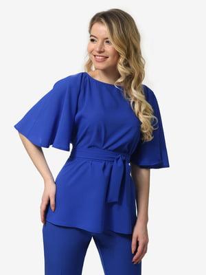 Блуза кольору електрик | 5061717