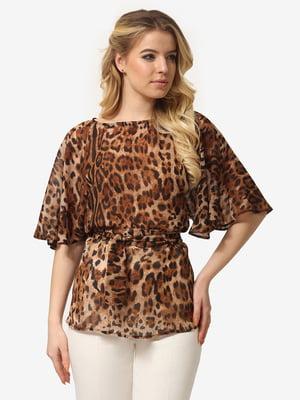 Блуза анималистичной расцветкой | 5061719