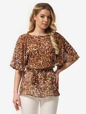 Блуза анималистичной расцветкой   5061720
