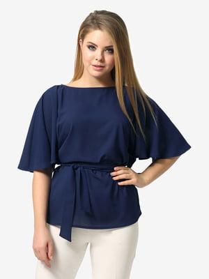 Блуза темно-синя | 5061735