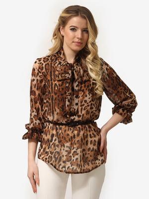 Блуза анималистичной расцветкой | 5061758