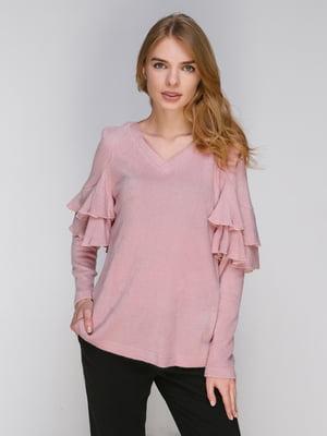 Пуловер розовый | 3869574
