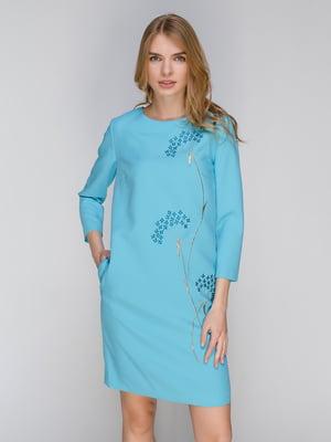 Платье голубое   2937164