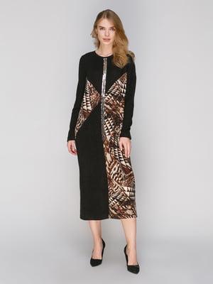 Платье черное в принт   2871435