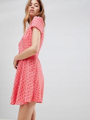 Сукня рожева у квітковий принт | 5048998