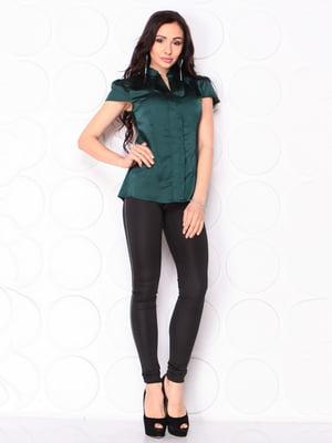 Блуза темно-изумрудного цвета | 5063119
