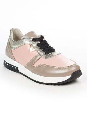 Кросівки рожево-кавові | 5048488
