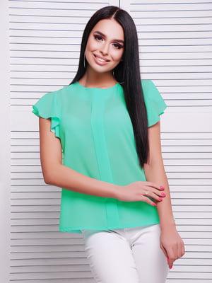 Блуза м'ятного кольору | 5063026