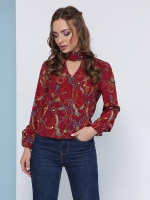 Блуза бордова   5063028