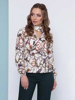 Блуза молочного кольору | 5063029