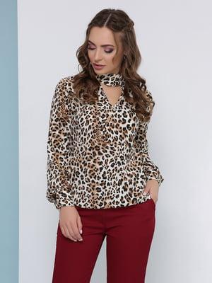 Блуза анималистичной расцветки | 5063032